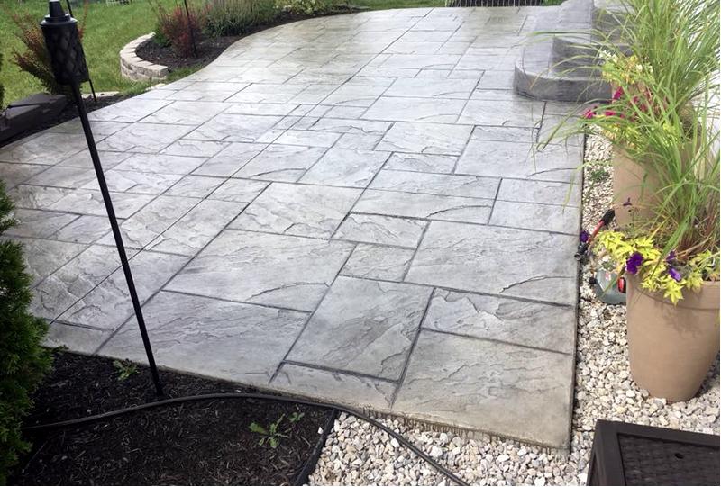 Custom Concrete Plus-stamped patio in Columbus Ohio