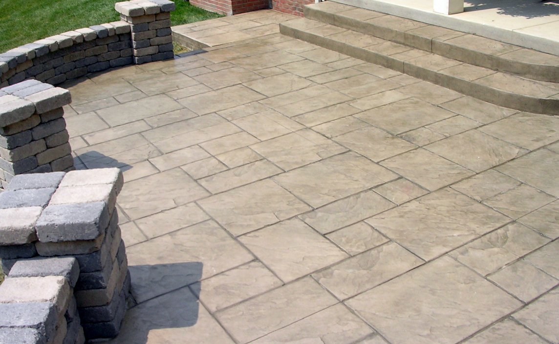 Columbus Ohio concrete contractor services-stamped concrete patios