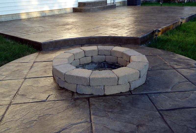 Columbus Ohio concrete patios-driveways-walkways-stamped concrete patio